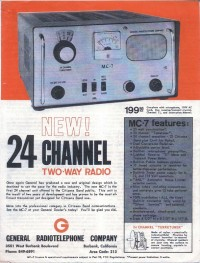 General Radiotelephone MC-7 ad
