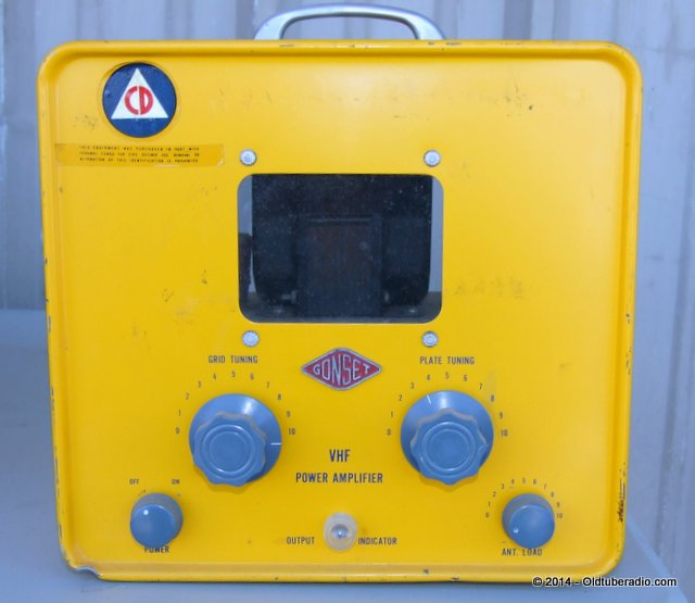 Gonset Civil Defense 2-Meter VHF Amplifier - from the collection of Pat Fennacy W6YEP