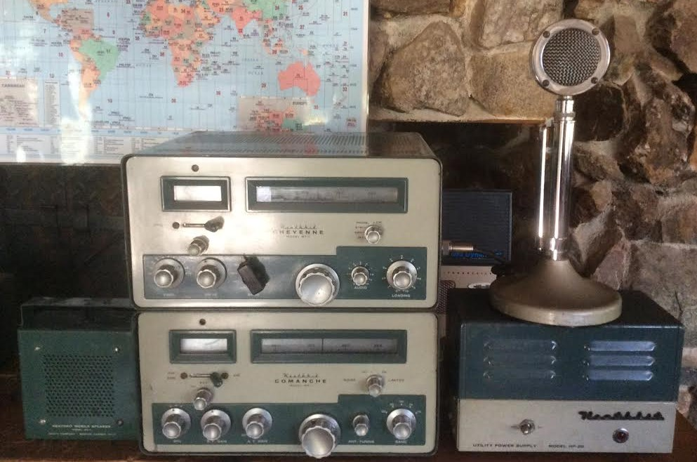 Heathkit MT-1, MR-1, HP-20 and AK-7 - Photo courtesy of Paul SWL45