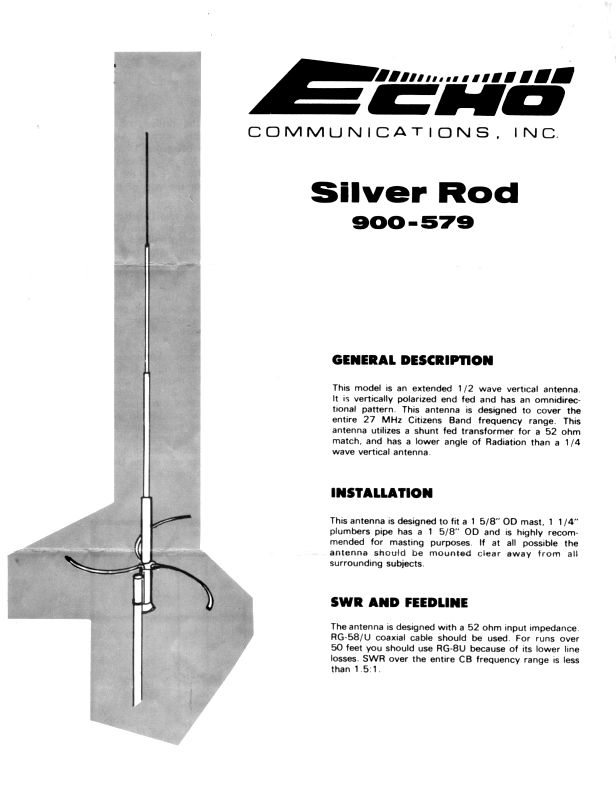 Echo Silver Rod Antenna Flyer