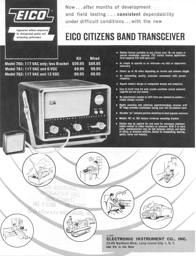 Eico 760 series 1960 advertisement
