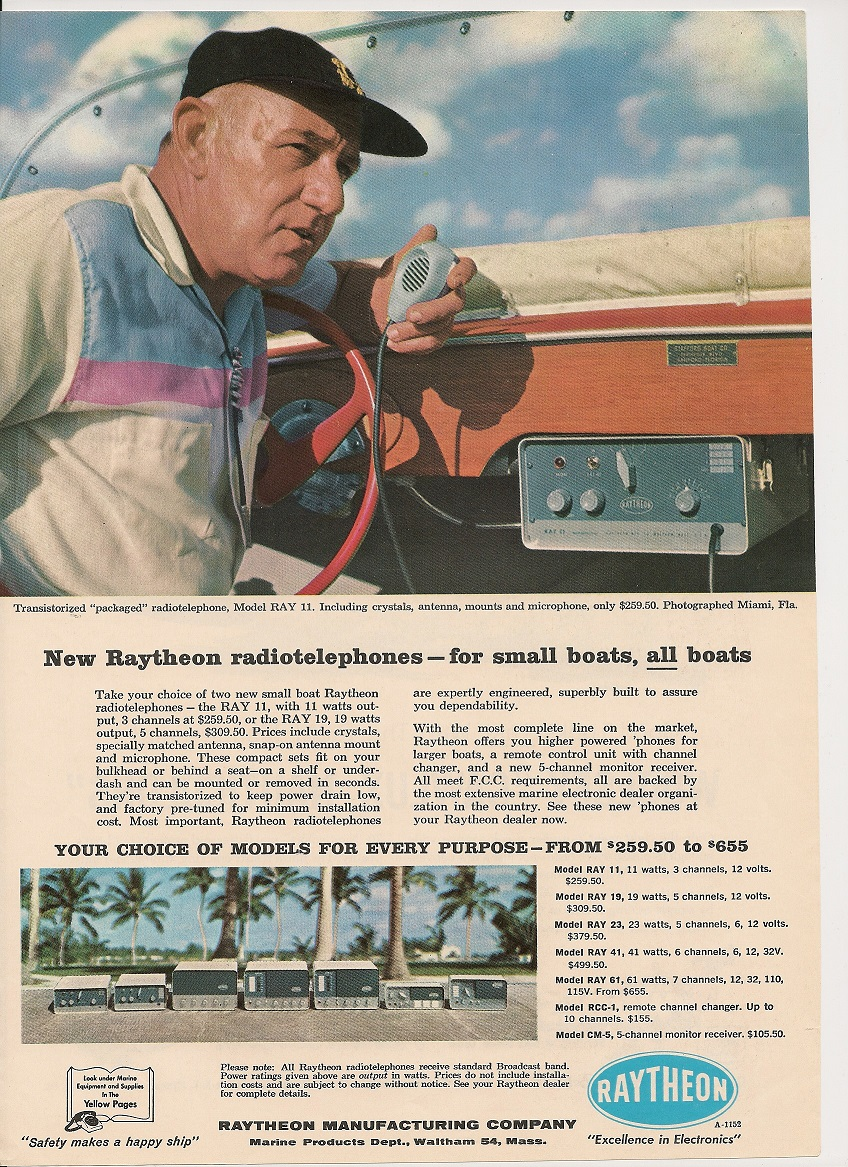 Raytheon Ray Series Advertisement - courtesy of Paul SWL#45
