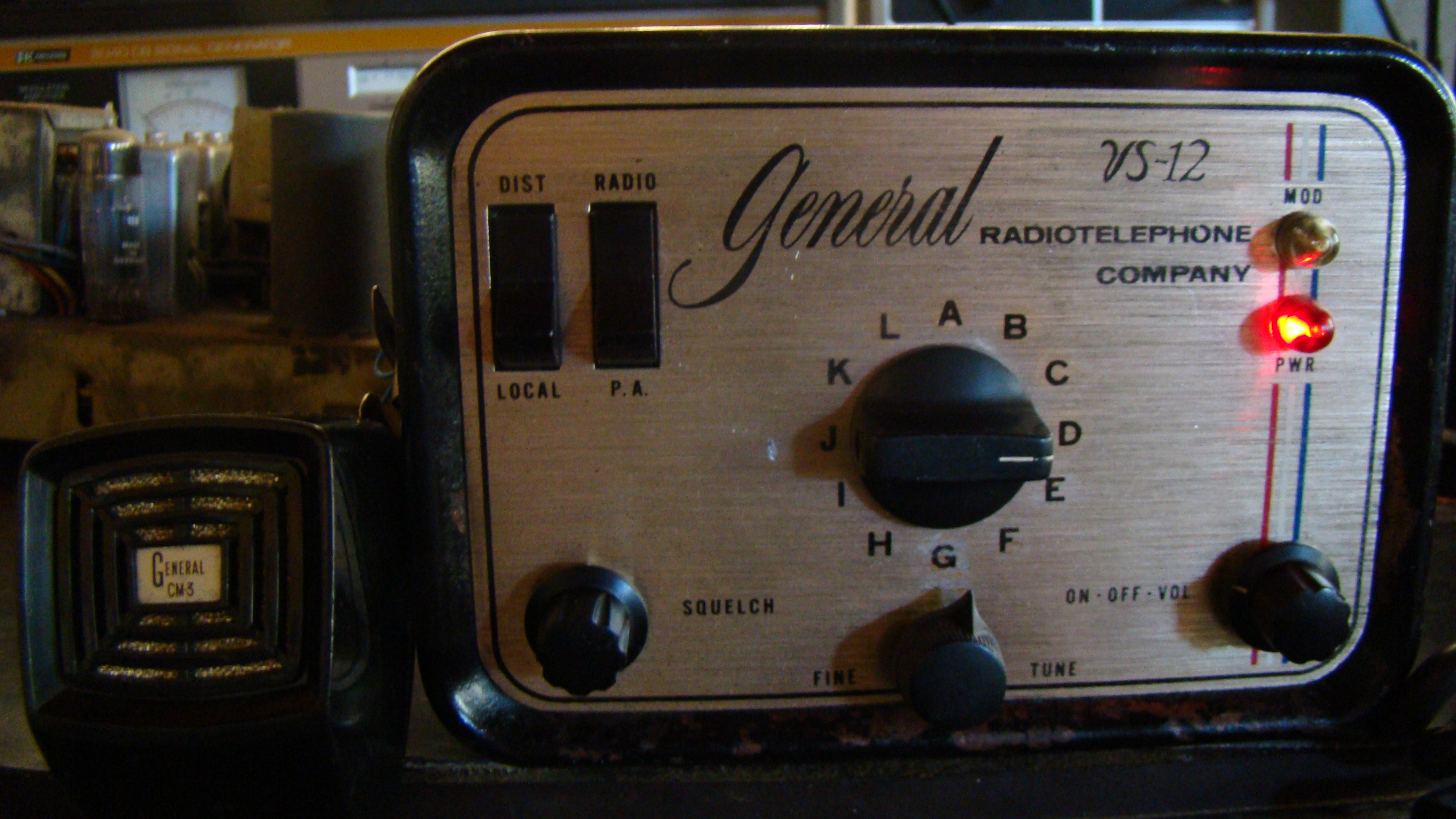 General Radiotelephone VS-12 - from the collection of Paul SWL# 45