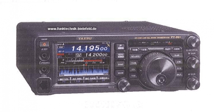 Yaesu FT-991 - photo courtesy of www.funktechnik-bielefeld.de