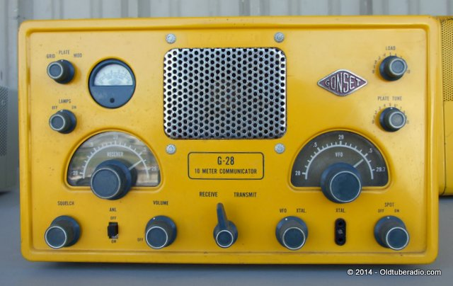Gonset G-28 Civil Defense Communicator - from the collection of Pat Fennacy W6YEP
