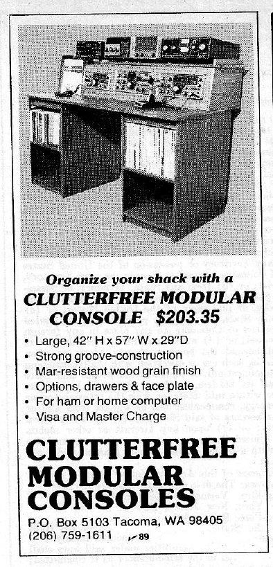 Clutterfree Modular Consoles ad 73 Magazine June 1981