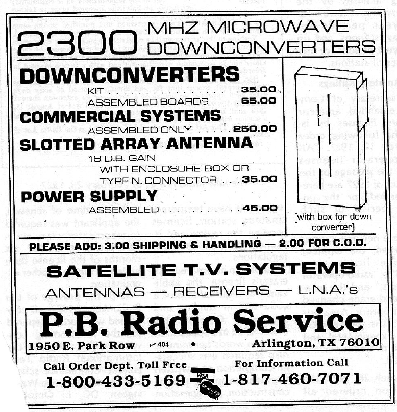 P.B. Radio Service ad 73 Magazine June 1981