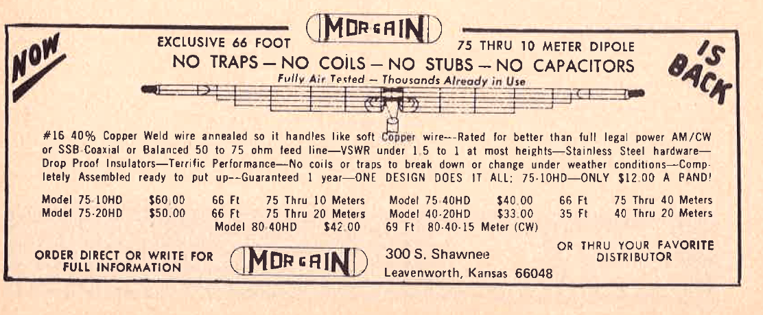 MorGain Ad 73mag 1974 aug